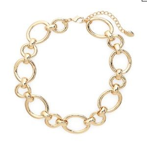 STELLA & RUBY Chain Link Collar Necklace In Gold